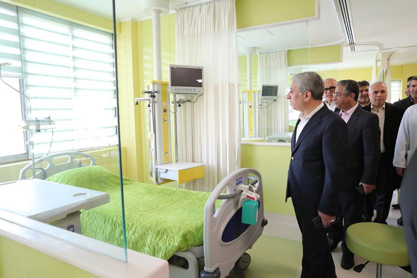 بخش سی تی آنژیوگرافی قلب و سامانه هوشمند بیمارستان آنلاین بانک ملی ایران افتتاح شد