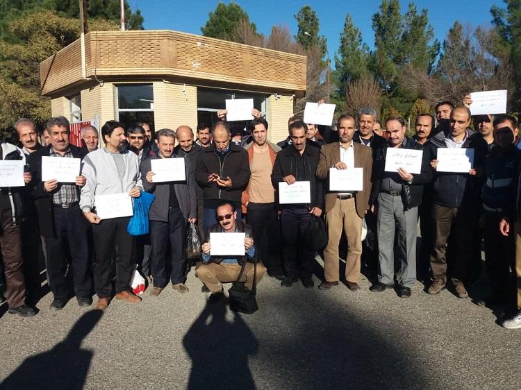 طومار تشکر کارگران کرمانشاهی برای مدیرعامل بانک ملت