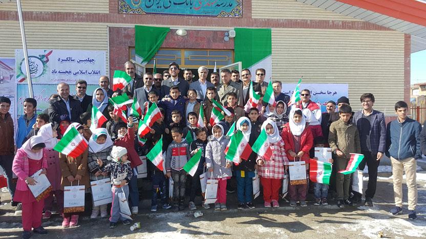 افتتاح و کلنگ زنی دو مدرسه در استان کردستان با مشارکت بانک ملی ایران همزمان با دهه مبارک فجر