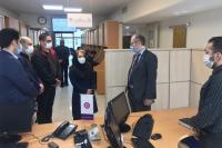 بازدید معاون فناوری اطلاعات بانک ایران زمین از مرکز ارتباط با مشتریان