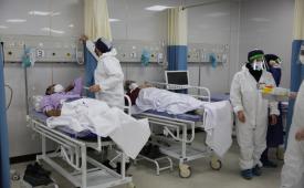 افتتاح کلینیک درمان سرپایی بیماران کرونایی در بیمارستان بانک ملی ایران